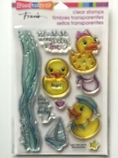 Stampendous Clear Acrylic Stamp Set Rubber Duckies SSC1158 NEW