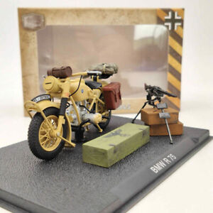 BMW R75 Motorcycle World War II 1939-1945 Yellow Diecast Model Collection 1:24