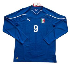 2010/11 Italy Home Jersey #9 BALOTELLI Large Soccer Football Puma AZZURRI NEW