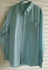 NEW Port Authority Mens Button Down Shirt Long Sleeve Gingham Easy Care S654 L