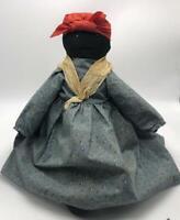 "Vintage Black Americana Handmade Cloth Rag Doll 17"""
