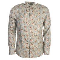Stenstroms Shirt Grün Blumen Baumwolle Größe 42cm/41.9cm Kragen Tr 235