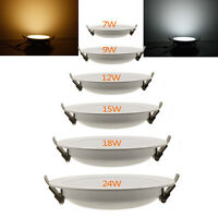 Dimmable 6W-21W LED Recessed Ceiling Panel Down CREE Light Bulb Lamp Round Kit
