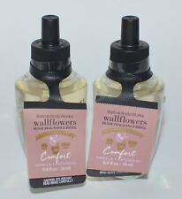 2 BATH & BODY WORKS COMFORT VANILLA PATCHOULI WALLFLOWER FRAGRANCE REFILL BULB