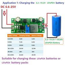 1-6S LiFePo4 Battery Charger Module 3.2V 6.4V 9.6V 12V 12.8V 16V 19.2V