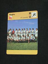 FICHE CHAMPION RUGBY FC LOURDAIS LOURDES  1977-1978  ( maillot )