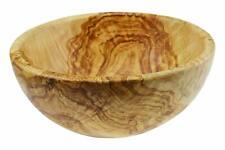 Saladier ou grand bol [22 cm/ 9 pouces] en bois d'olivier sanitaire fait main