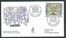 2002 ITALIA FDC VENETIA 1168 TEATRO DELLA CONCORDIA VIBIO TIMBRO DI ARRIVO - ED2