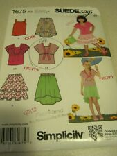 UNCUT SIMPLICITY CHILD'S & GIRLS' LOT SUEDE Says Sewing Pattern # 1675 Sz 7 - 14