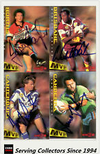 1996 Dynamic Rugby League Series 2 MVP SIGNATURE CARD ONLY FULL SET (20)