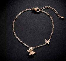 Stainless Steel Bracelet Rose Gold Butterfly Bracelet Jewellery Love Jewellery