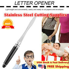 Stainless Steel Paper Letter Opener Cutting Supplies for Office & School #wr