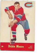1955-56 - PARKHURST HOCKEY CARD - NO. 38 - DICKIE MOORE - MONTREAL CANADIENS