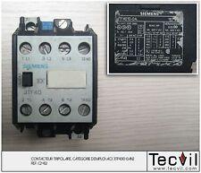 Contacteur tripolaire AC3 SIEMENS 3TF4010-0A | Contactor 3 pôles