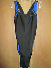 NEW* Speedo 6 32 Swimsuit RACING ATHLETIC Black Blue Striped $74 Retail