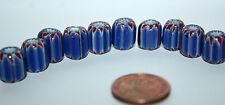 10 X Bleu Chevron PERLES / étoile beads