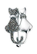 Markenlose Echtschmuck-Broschen & -Anstecknadeln aus Sterlingsilber Markasit