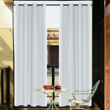 2/4/8Pcs Thermal Outdoor Curtain Panels Waterproof UV Sun Proof for Patio Porch
