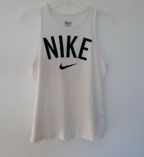 Nike Dri-Fit Workout Tank Top White Women's Size L Clean Cotton Blend