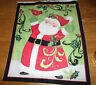 New  CHRISTMAS SANTA Unfinished COTTON Panel designed by Susan Winget