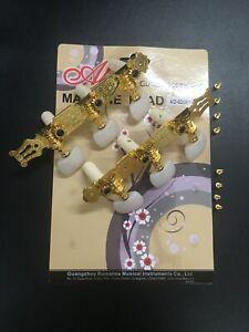 Alice AO-020B1P Premium Gold Plated Machine Head for Classical Guitar-Full Set