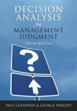 Decision Analysis for Management Judgment, 3rd Edi
