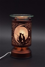 Metal  Electric Touch Fragrance Aromatherapy Lamp Oil Warmer Cat Cats Design