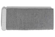 Mini Gray Nail File, 100/180 Zebra Salon Board, 3.5 Inches Long By .75 Inches 50