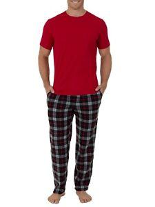 New Men's Fruit of the Loom Fleece Shirt/Pants set. Sleep, Lounge set Size 3XL