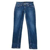 Vintage Levi's 524 Women Blue Low Rise Stretch Straight Fit Jeans 9 M / W30 L34