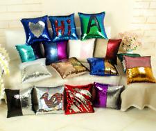 Magic Reversible Mermaid Sequin Cushion Glitter Cover Throw Pillow Case Decor AU