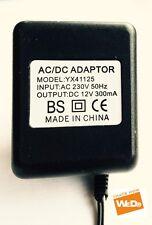 AC/DC ADAPTER YX41125 12V 300mA UK PLUG