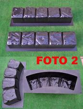 Concrete molds edge stone concrete edging border Sold set 4 pcs molds BR02+BR04