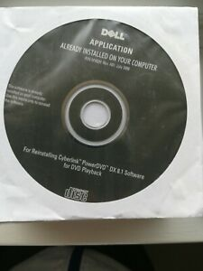 Dell reinstalling cyber link power dvd DX 8.1 software for dvd playback 2008 cd