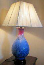 Vintage Studio Glazed Crystalline Bedside / Table Lamp Base - Unique Piece