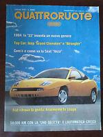 Quattroruote n 453 luglio 1993 - Jeep Grand Cherookee e Wrangler, Fiat Coupè