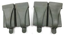 2 x GERMAN ARMY G3 MAGAZINE AMMO WEBBING POUCHES in OLIVE GREEN