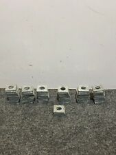 "Lot of 63 Unistrut P2471 13/16"" Steel Square Washers for Unistrut Channel"