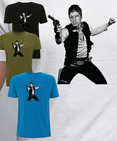 Noel Gallagher as Han Solo T Shirt Star Wars Oasis NGHFB Indie Mod Flying Birds