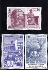 Spain Edifil # 3453/3455 MNH Set Patrimonio di la umanità