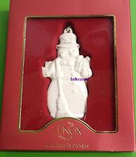 LENOX Snowman  flat Ornament NEW