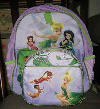 FAIRIES**TINKER BELL** NEW~IN PACK*DISNEY  BACKPACK LUNCH SET~COLLECTIBLE~PURPLE