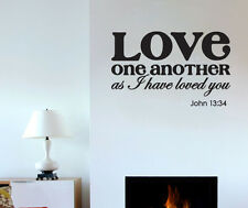 Love One Another as I Have Loved You Bible Verse Wall Decal Sticker John 13 34