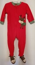 Carter's boy's / girls christmas reindeer footie pajama - size 2T - EUC/LKNW