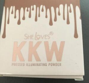 SHE LOVES KKW Pressed Illuminating Powder (face Powder Bronzer)