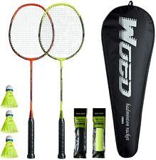 Badminton Kit Set Gift 2 Players 2 Rackets 3 Shuttlecocks 2 Grip Tapes Bag
