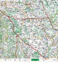 21 Pouilly Saulieu Avallon Semur 1968 carte routière orig. (partie) autoroute A6