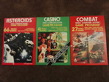 14 RETRO ATARI VCS 2600 POSTERS A4 (set 1) including Outlaw, Combat, Asteroids