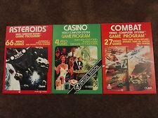 14 RETRO ATARI VCS 2600 POSTERS A4 (set 1) including Outlaw, Combat, Asteroids