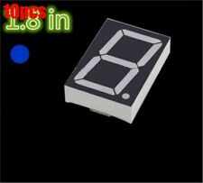 10Pcs 1.8 Inch 1 Digit Blue Led Display 7 Segment Common Cathode ox